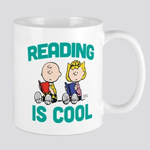 Charlie & Sally Brown-Reading is Cool Mug