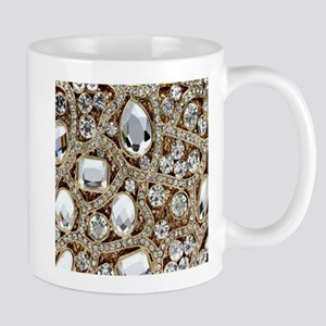 girly bohemian gold rhinestone 11 oz Ceramic Mug