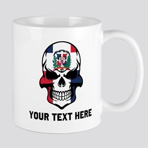 Dominican Flag Skull (Custom) Mugs