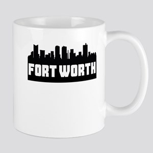 Fort Worth Texas Skyline Mugs