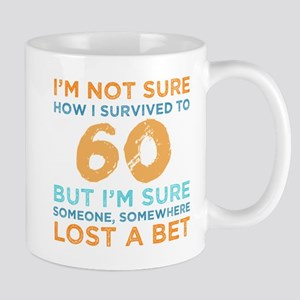 60th Birthday Survival 11 oz Ceramic Mug