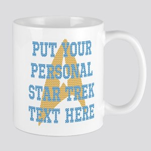 PERSONALIZED STAR TREK UGLY CHRISTMAS TEXT Mugs