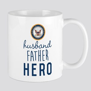 Navy Husband Father Hero Mug