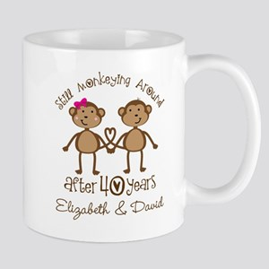 40th Anniversary Funny Personalized Gift Mugs
