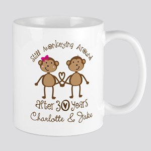 30th Wedding Anniversary Personalized Gift Mugs
