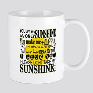 You Are My Sunshine Typography Mugs