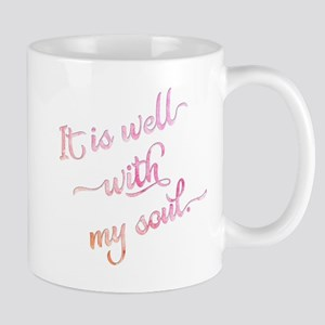 It is well with my soul (pink). Mugs