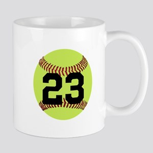 Softball Number Personalized 11 oz Ceramic Mug