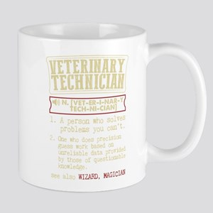 Veterinary Technician Dictionary Term T-Shirt Mugs