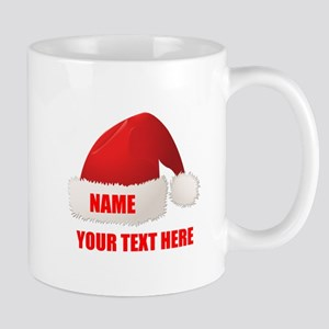 Christmas Santa Hat Personalized 11 oz Ceramic Mug