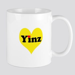 Yinz, black and gold heart, Pittsburgh slang, Mugs
