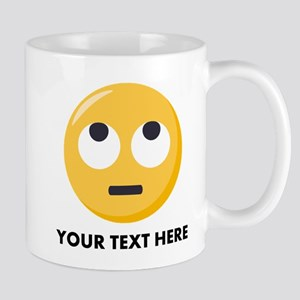 Eye Roll Emoji Personalized 11 oz Ceramic Mug