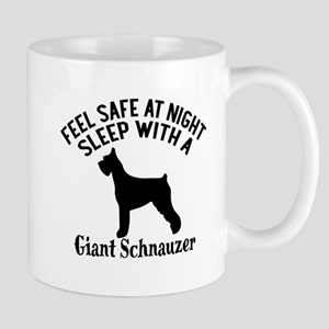 Sleep With Giant Schnauzer Dog D 11 oz Ceramic Mug