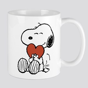 Snoopy Hugs Heart 11 oz Ceramic Mug