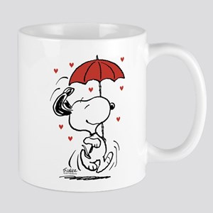 Snoopy on Heart Mugs