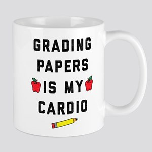 Grading Papers is My Cardio 11 oz Ceramic Mug