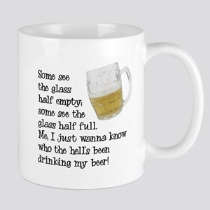 Half Glass Of Beer Mug