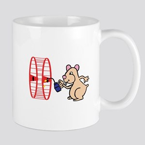 Hamster with Squeaky Wheel Mug