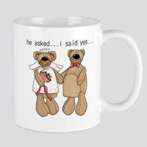 Bride and Groom Bear Mug