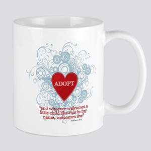 ADOPT WITH VERSE MATTHEW Mugs
