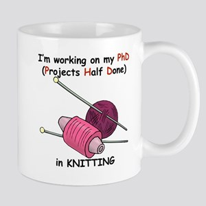 Knitting PhD (projects half d Mug