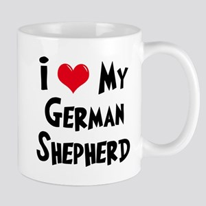 I Love My German Shepherd Mug