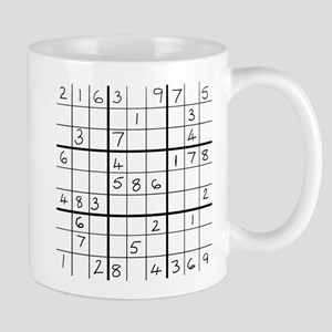 Mug featuring an easy solvable Sudoku puzzle