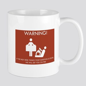 Warning Help Desk Mug