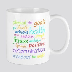 Fitness Collage Stainless Steel Travel Mugs
