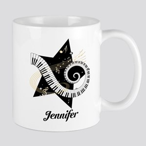 Music star gold black Mug