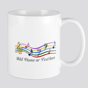 Personalized Rainbow Musical Mug