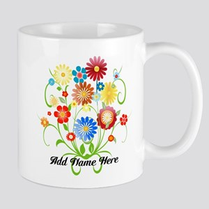 Personalized floral light Mug