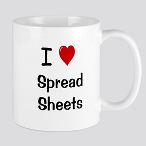 I Love Spreadsheets Mug - Office Mug