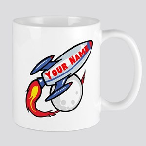Personalized rocket Mug