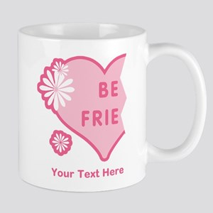 CUSTOM TEXT Best Friends Split Heart Mug
