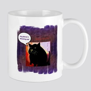 Funny Fat Cat Phone Mug