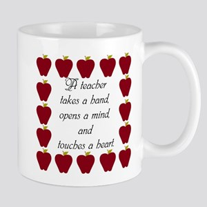 A teacher takes a hand Mug