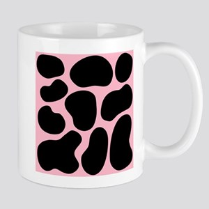 Pink and Black Cow Print. Mug