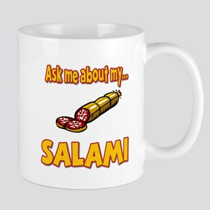 Funny Ask Me About My Salami Innuendo Humor Mug