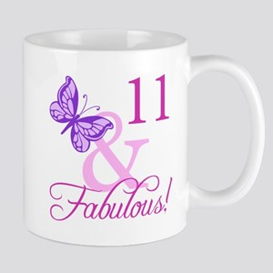 Fabulous 11th Birthday For Girls Mug