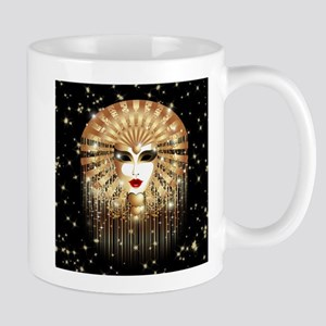 Golden Venice Carnival Mask Mugs