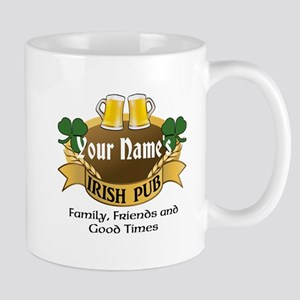 Personalized Name Irish Pub Mugs