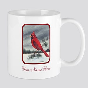 Red Northern Cardinal Bird Personalize Mugs