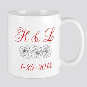 Personalized Initials dates Mugs