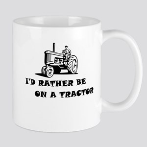 Id rather be on a tractor Mugs