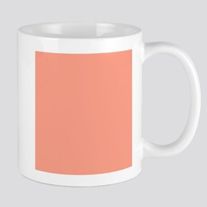 Coral Orange Solid Color Mugs
