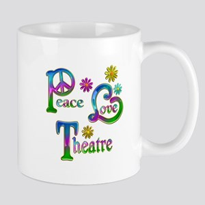 Peace Love Theatre Mug