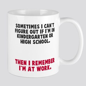 At work Mugs