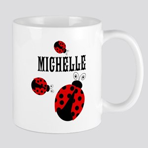 Cute Red | Black Ladybugs Name Mugs