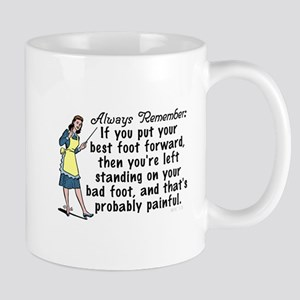 Funny Retro Best Foot Demotivational Mugs